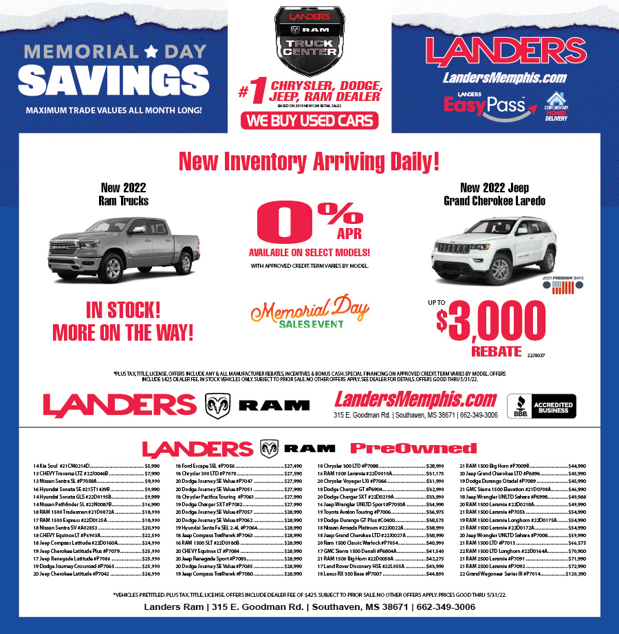 Landers Dodge Chrysler Jeep: Print Ads
