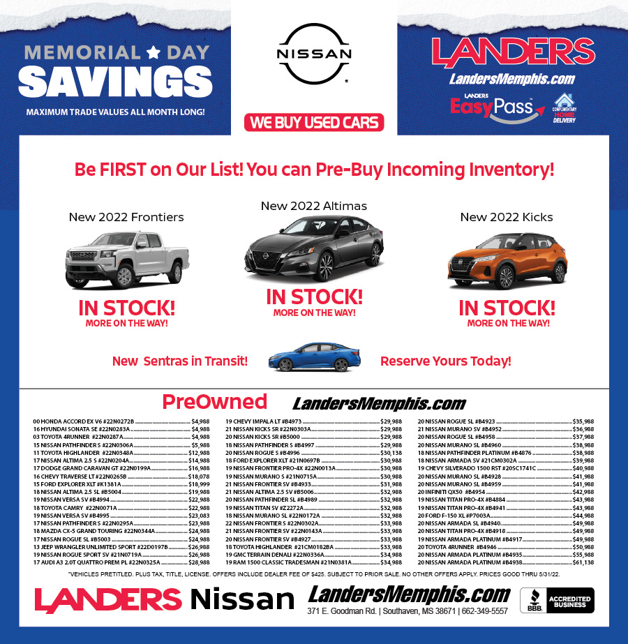 Landers Nissan: Ad Center, Specials & Deals